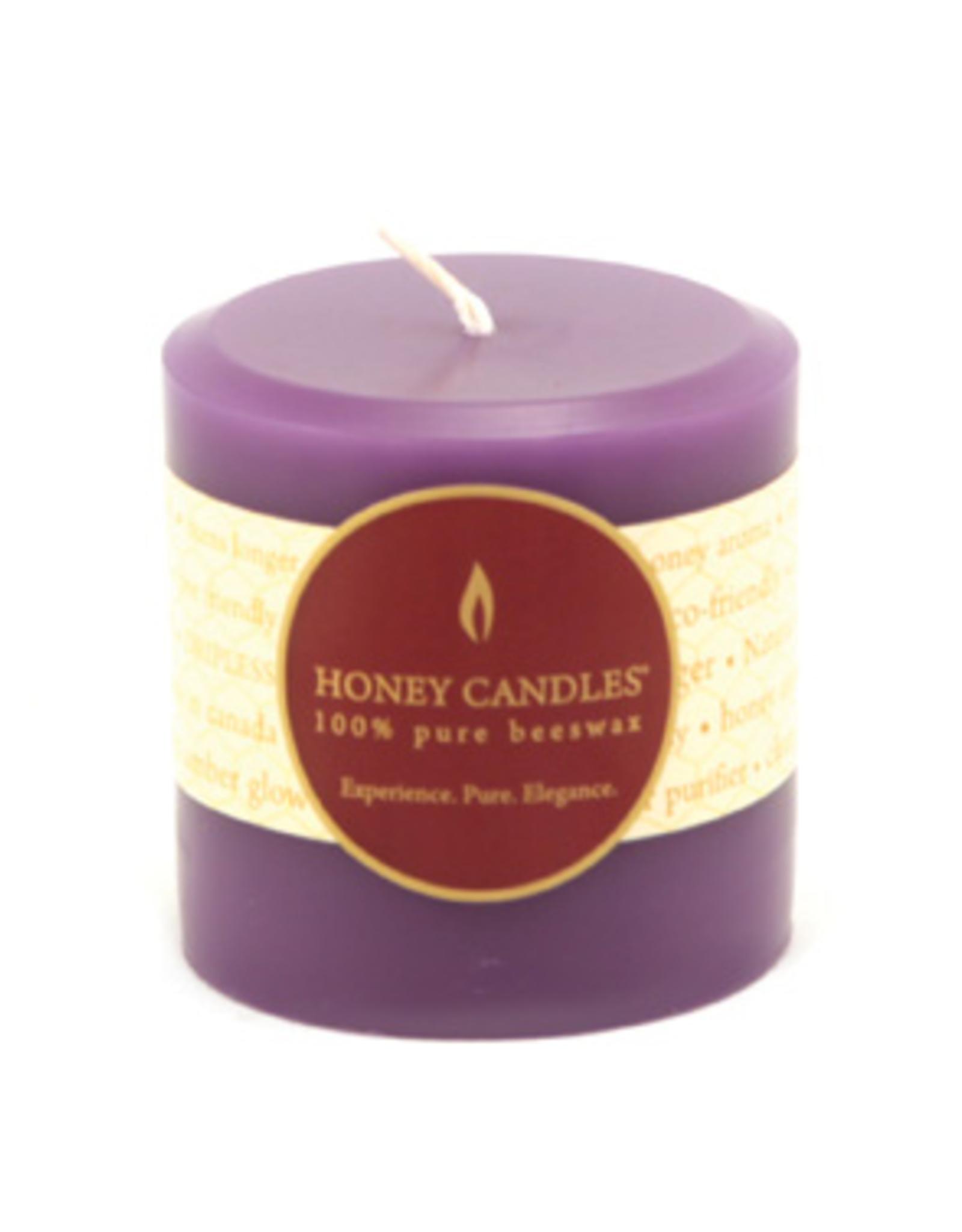 "Honey Candles Honey Candles 3"" Round Pillar-Spring Crocus"