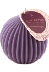 Honey Candles Honey Candles - Fluted Sphere - Spring Crocus