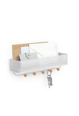 Umbra Umbra Estique Entrance Organizer-White With Shelf/Hooks