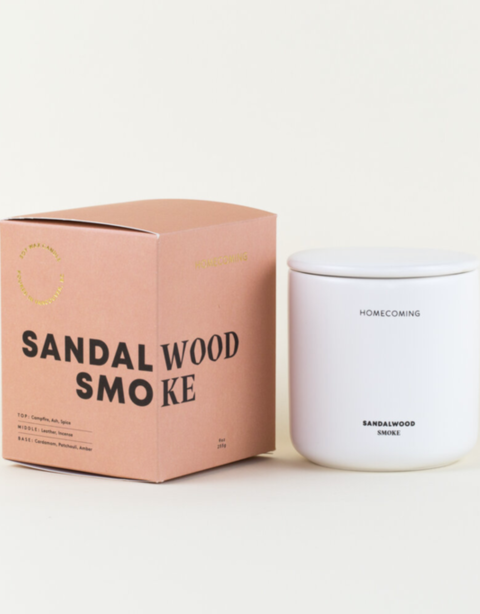 Homecoming Candles Homecoming Candles-Sandalwood Smoke Deluxe Ceramic Candle