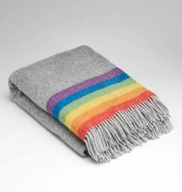McNutt Irish Wool Blanket - Rainbow Stripe