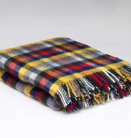McNutt Irish Wool Blanket -  Berry Buttercup
