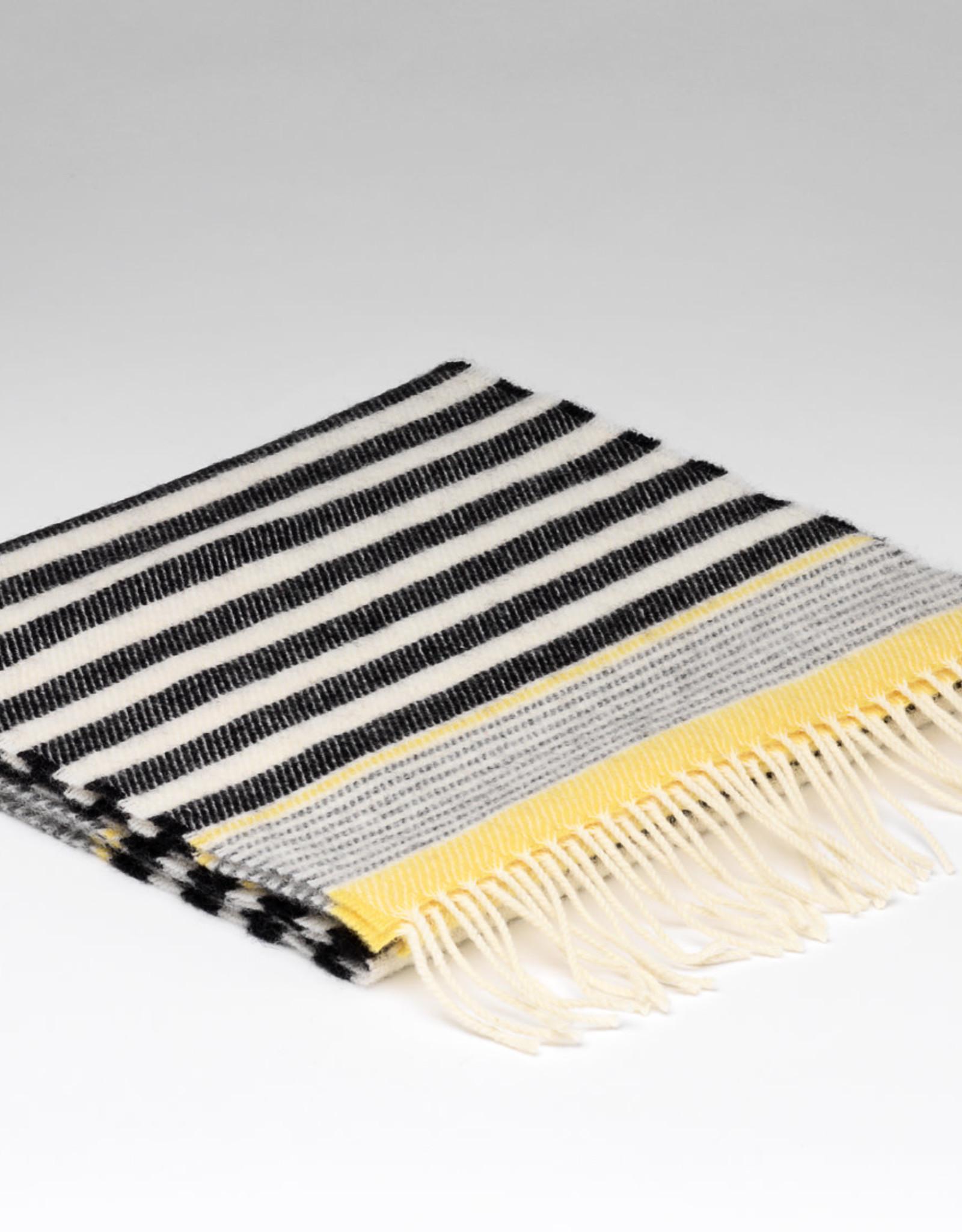 McNutt McNutt Lambswool Grey Seaside Stripe Scarf