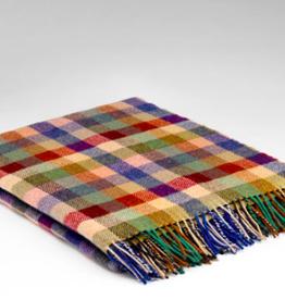 McNutt City Plaid Irish Wool Blanket