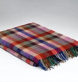 McNutt Suburban Plaid Irish Wool Blanket