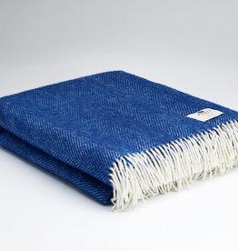 McNutt Irish Wool Blanket -  Mediterranean Blue