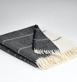 McNutt Irish Wool/ Alpaca  Blanket - Charcoal Ombre