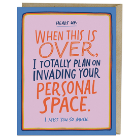Paper E Clips Personal Space Card