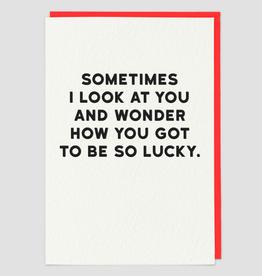 Paper E Clips Lucky Card