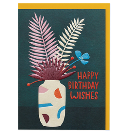 Paper E Clips Dried Flowers Card