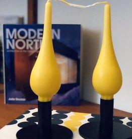 Ester & Erik Ester & Erik Drop Candle 7 Inch-Pair-Yellow