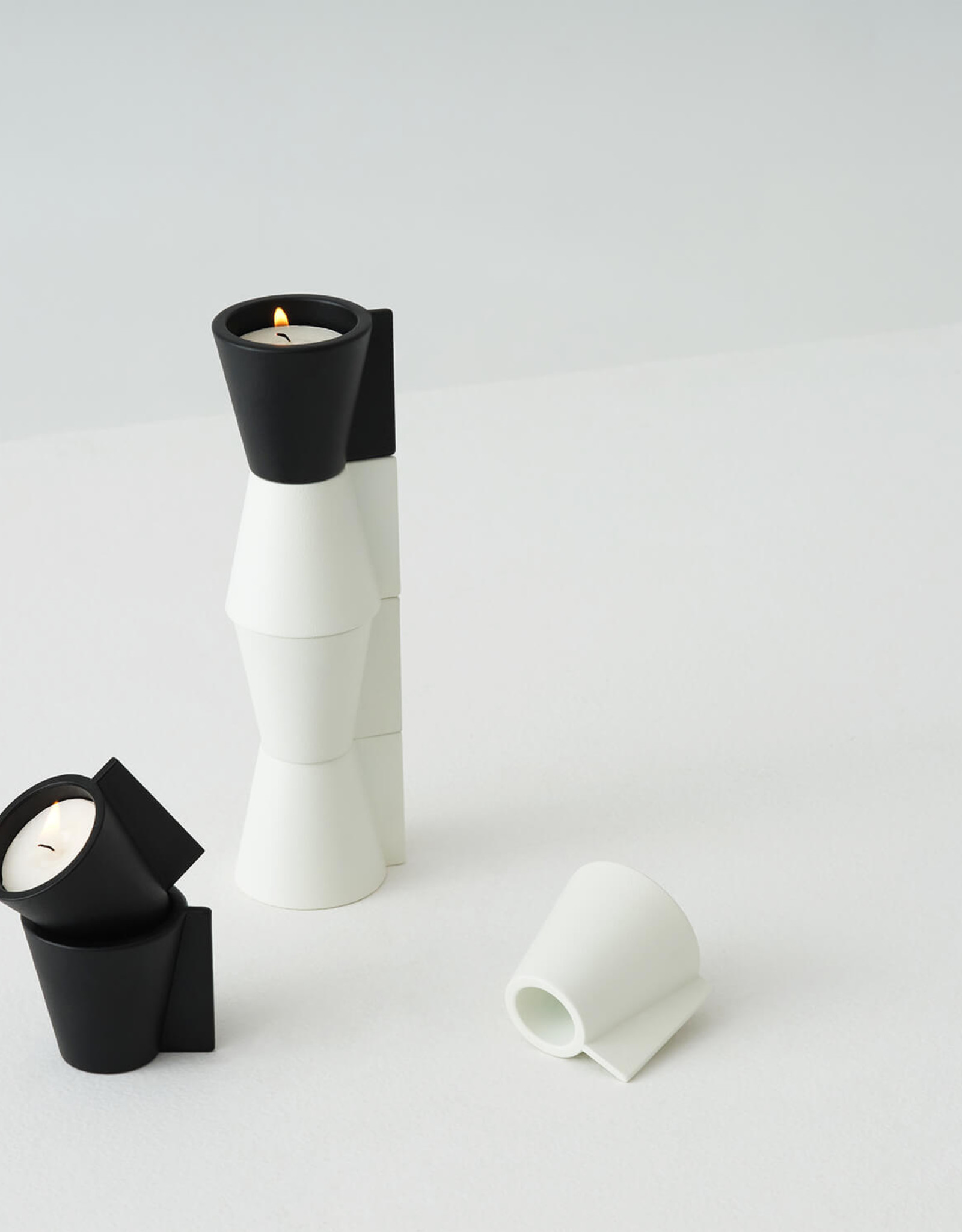 EQ3 EQ3 Pitch Candle Holder-White