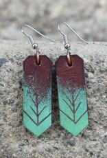 Leather Borealis Earrings