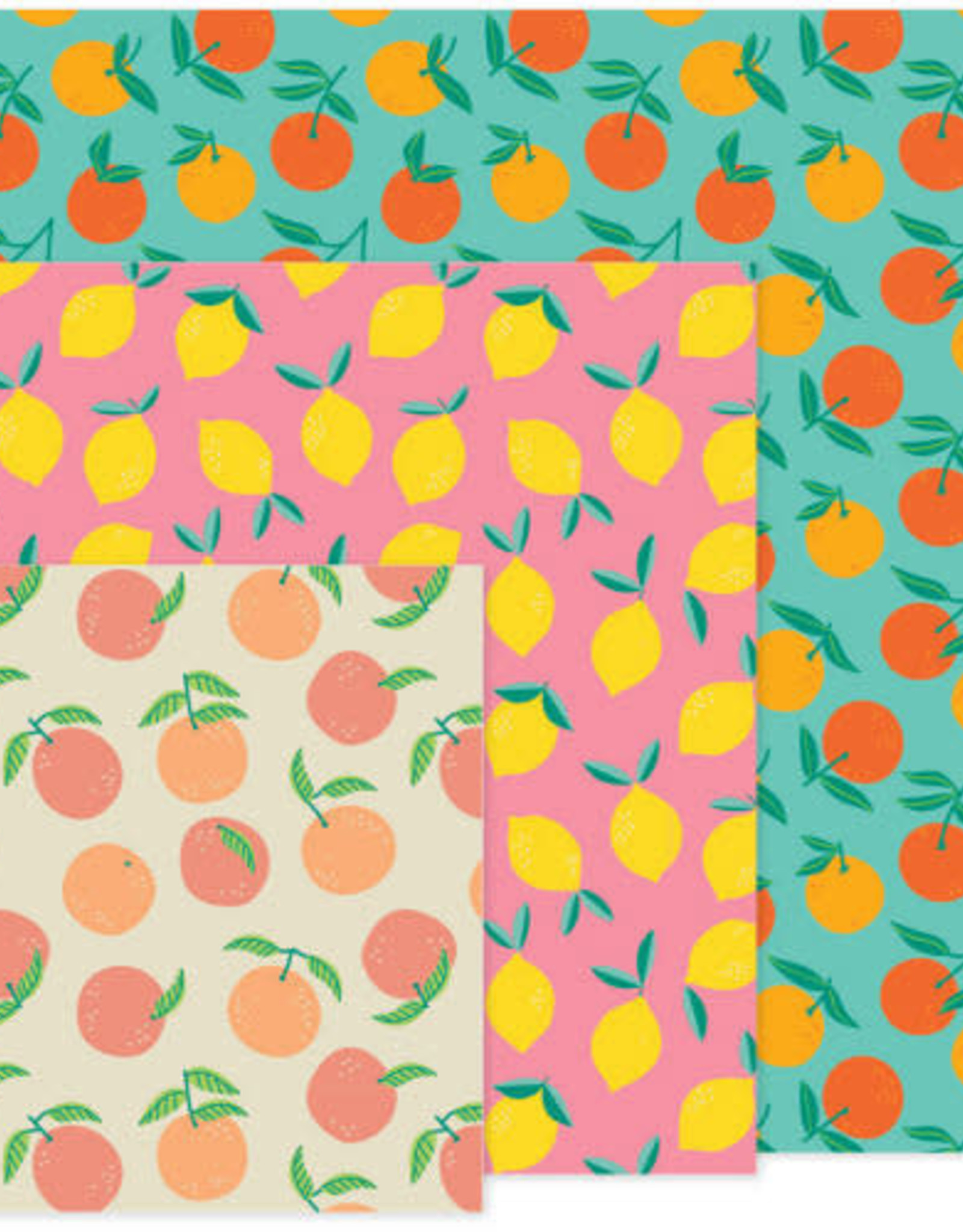 Danica Beeswax Wrap-Citrus Set 3