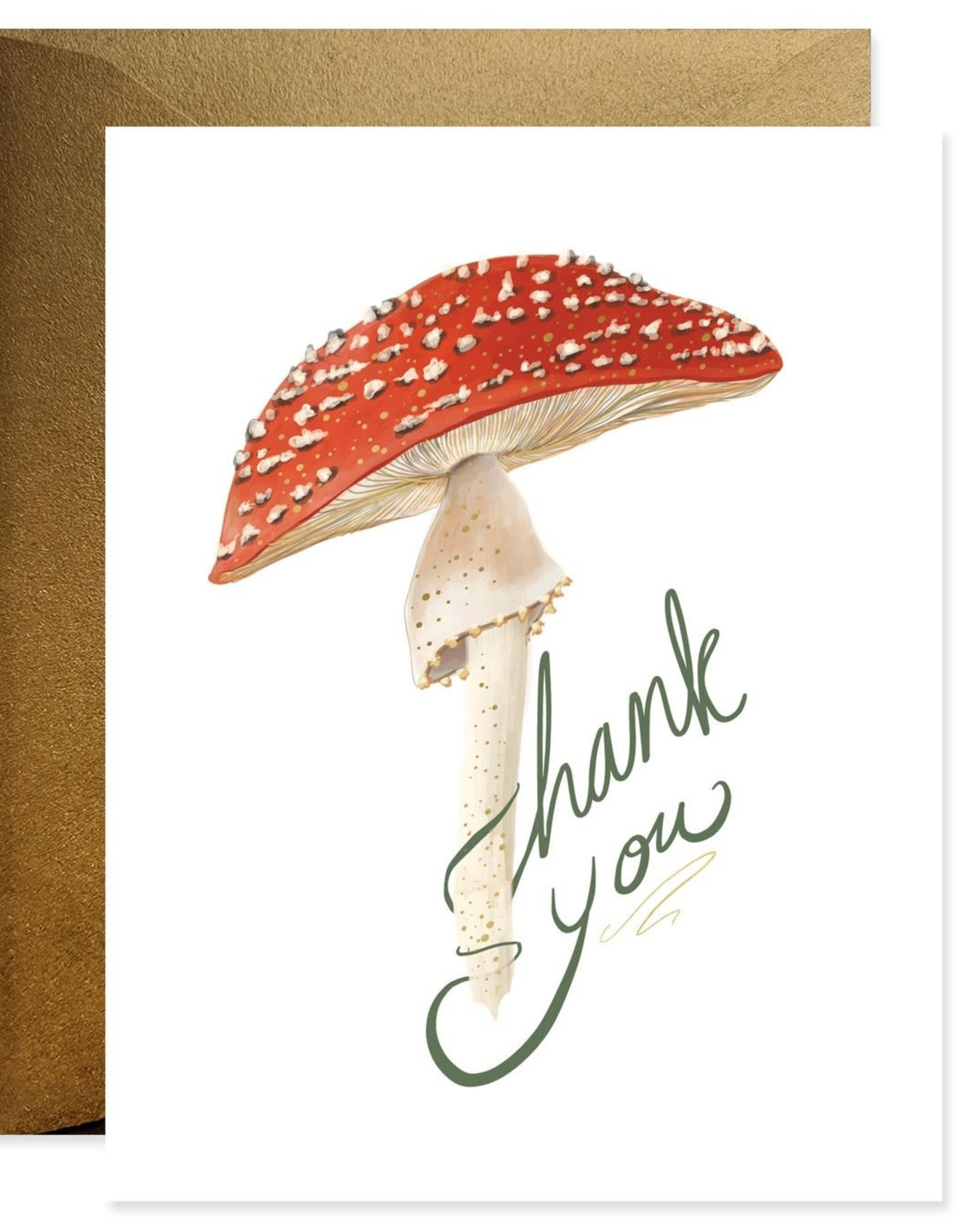 Paper E Clips Mushroom  Thank You GC0262