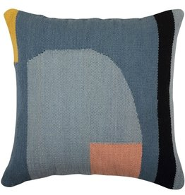 Geo Shapes Woven Pillow 18x18