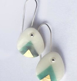 Dirt Light Shadow Grey Gold Turquoise Porcelain Drops