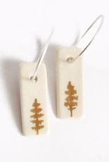 Dirt Light Shadow Dirt Light Shadow Gold Tree Hoop Earrings