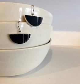 Dirt Light Shadow Yin Yang Porcelain Earrings