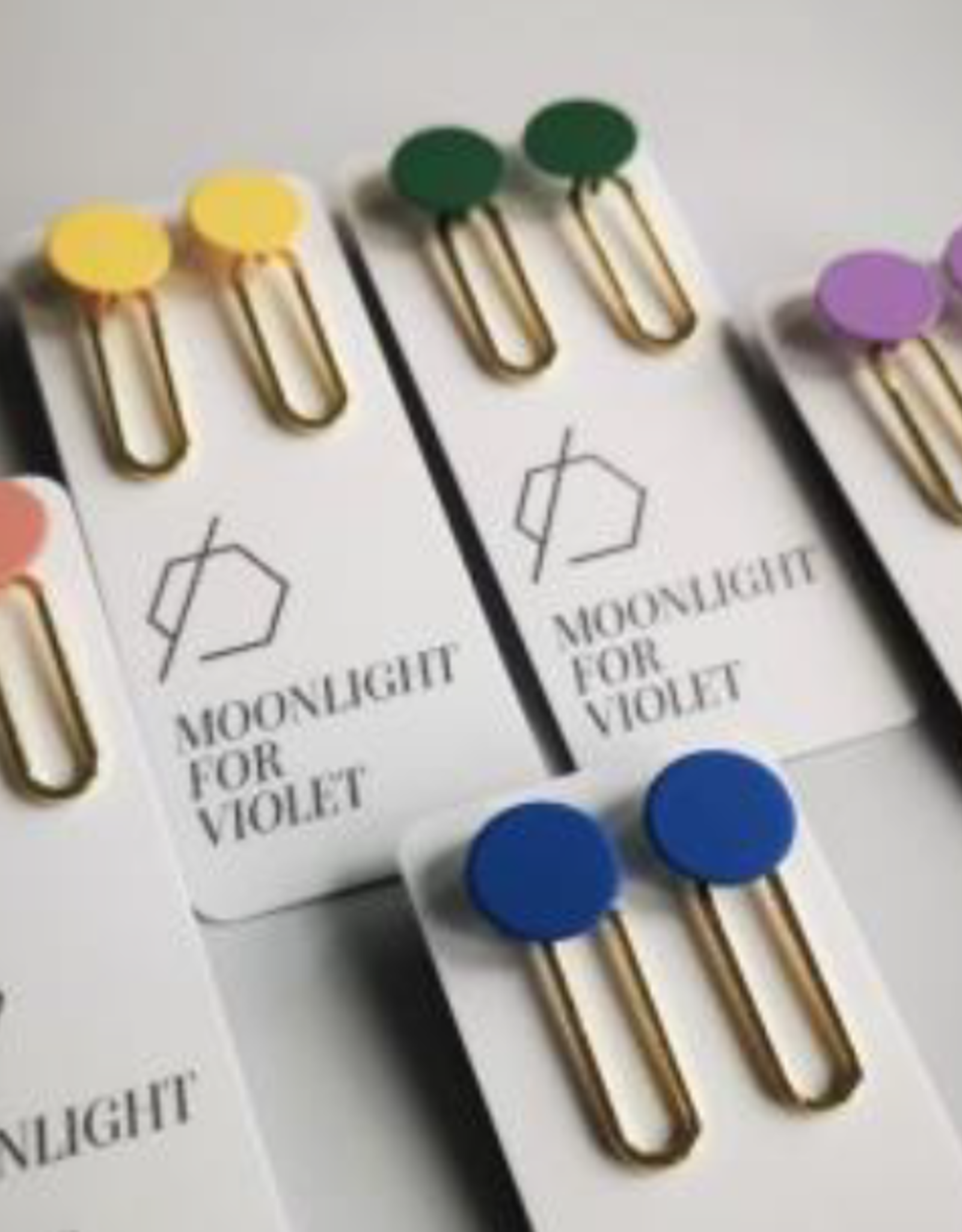 Moonlight for Violet Moonlight for Violet Paperclip Dangle Gold - Assorted Colours