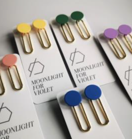 Moonlight for Violet Paperclip Dangle Gold - Assorted Colours
