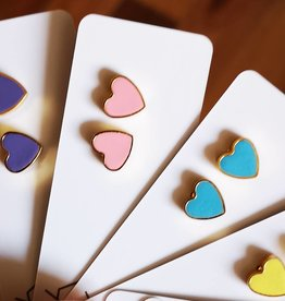Moonlight for Violet Heart Studs - Assorted Colours