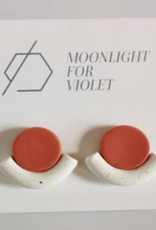 Moonlight for Violet Moonlight for Violet Resting Circle Studs - Assorted Colours