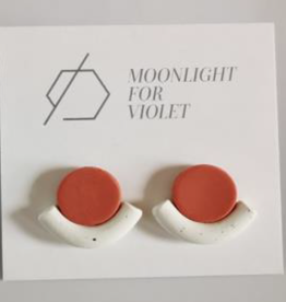 Moonlight for Violet Resting Circle Studs - Assorted Colours