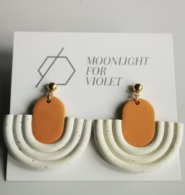 Moonlight for Violet Clay Dangle Earrings - Assorted Colours