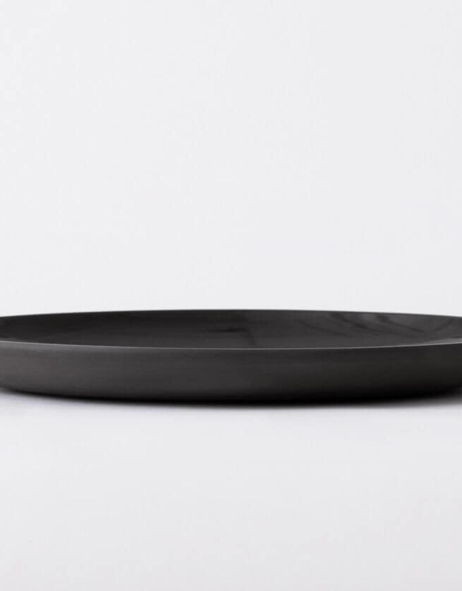 EQ3 EQ3 Garrido Stoneware Dinner Plate-Black