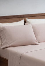 EQ3 EQ3 Linen Cotton King Sheet Set-Shell