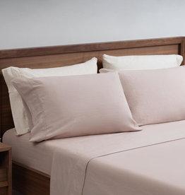 EQ3 EQ3 Linen Cotton King Sheet Set-Shell