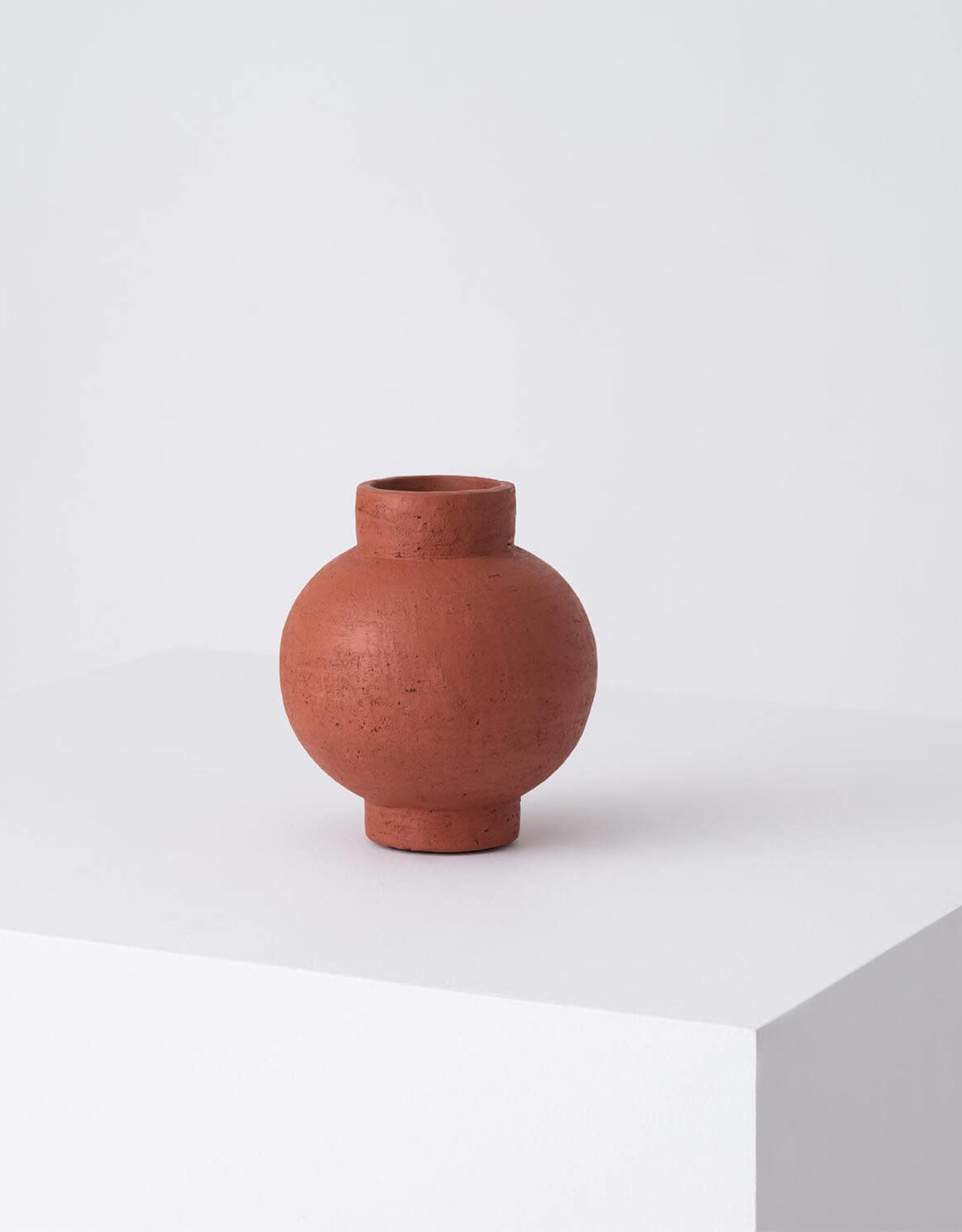 EQ3 Terracotta -Round Vase
