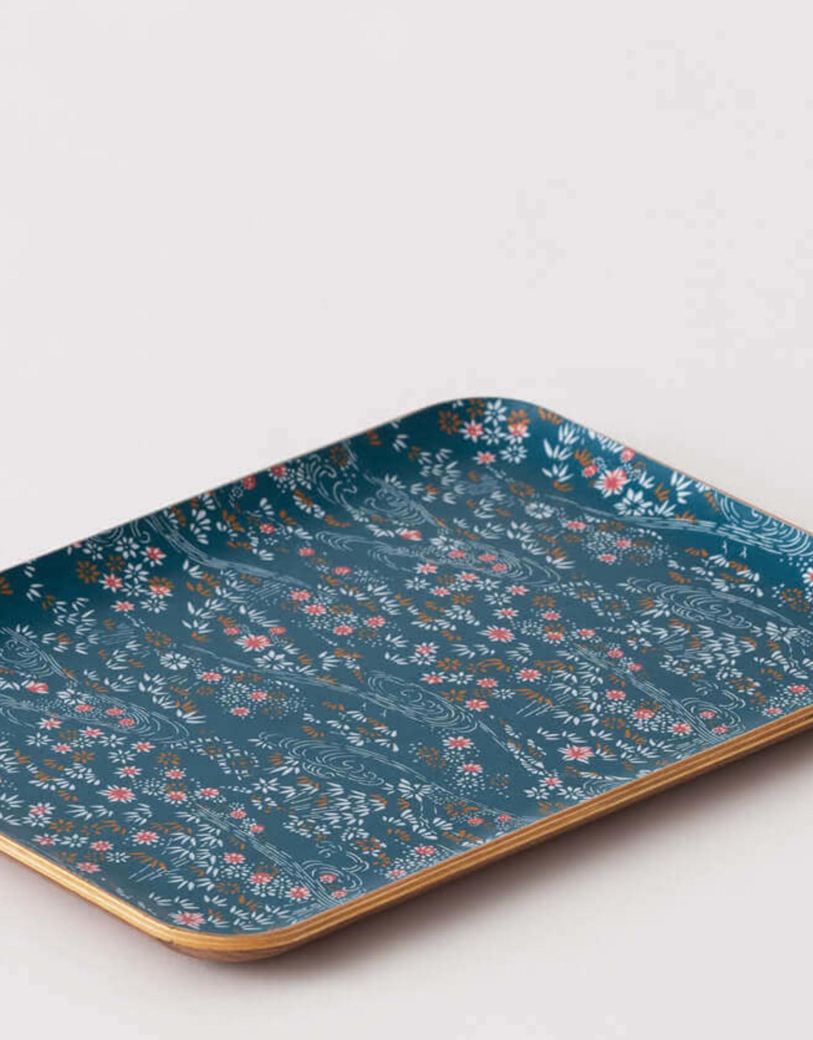 EQ3 EQ3 Fika Floral Tray-Walnut