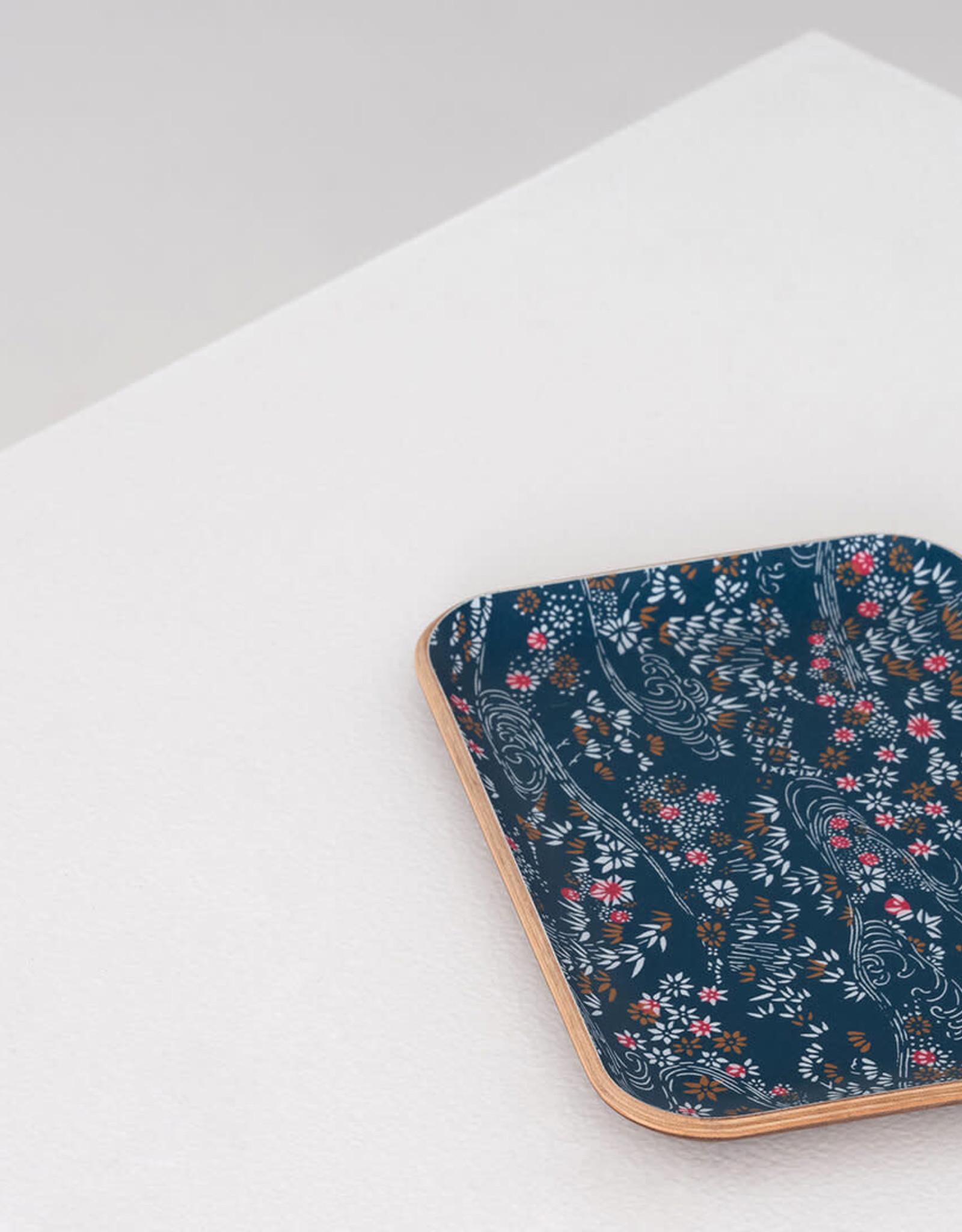 EQ3 EQ3 Fika Floral Tray-Small-Walnut