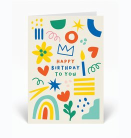 Paper E Clips Happy Birthday To You