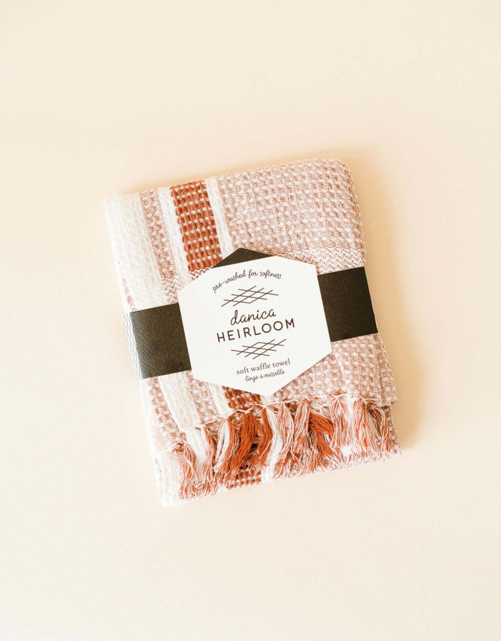 Danica Danica Waffle Tea Towel-Clay