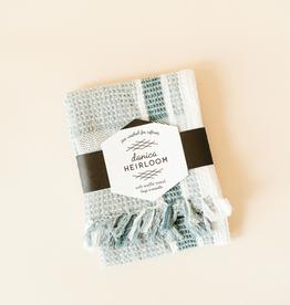 Danica Waffle Tea Towel-Lagoon