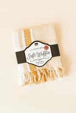 Danica Danica Waffle Tea Towel-Ochre