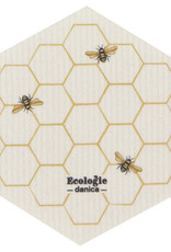 Danica Danica Shaped Bees Dishcloth