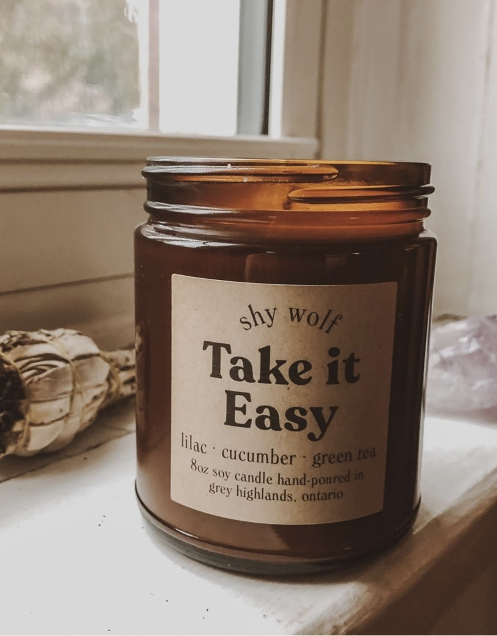 Shy Wolf - Take It Easy Soy Candle