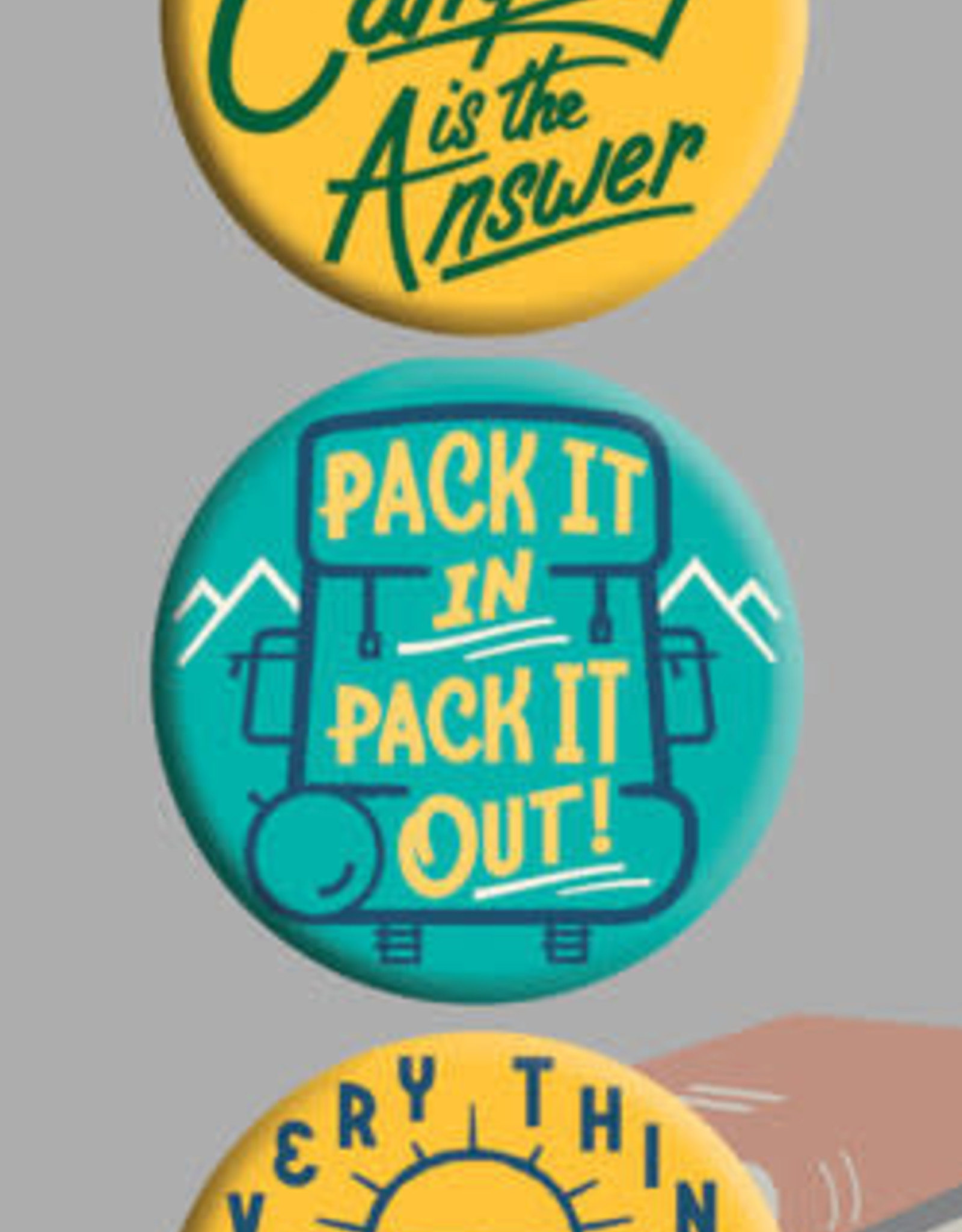 Raincoast Books - Camping Is The Answer Button Set