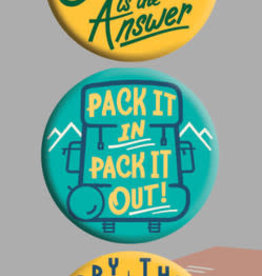 Camping Is The Answer Button Set