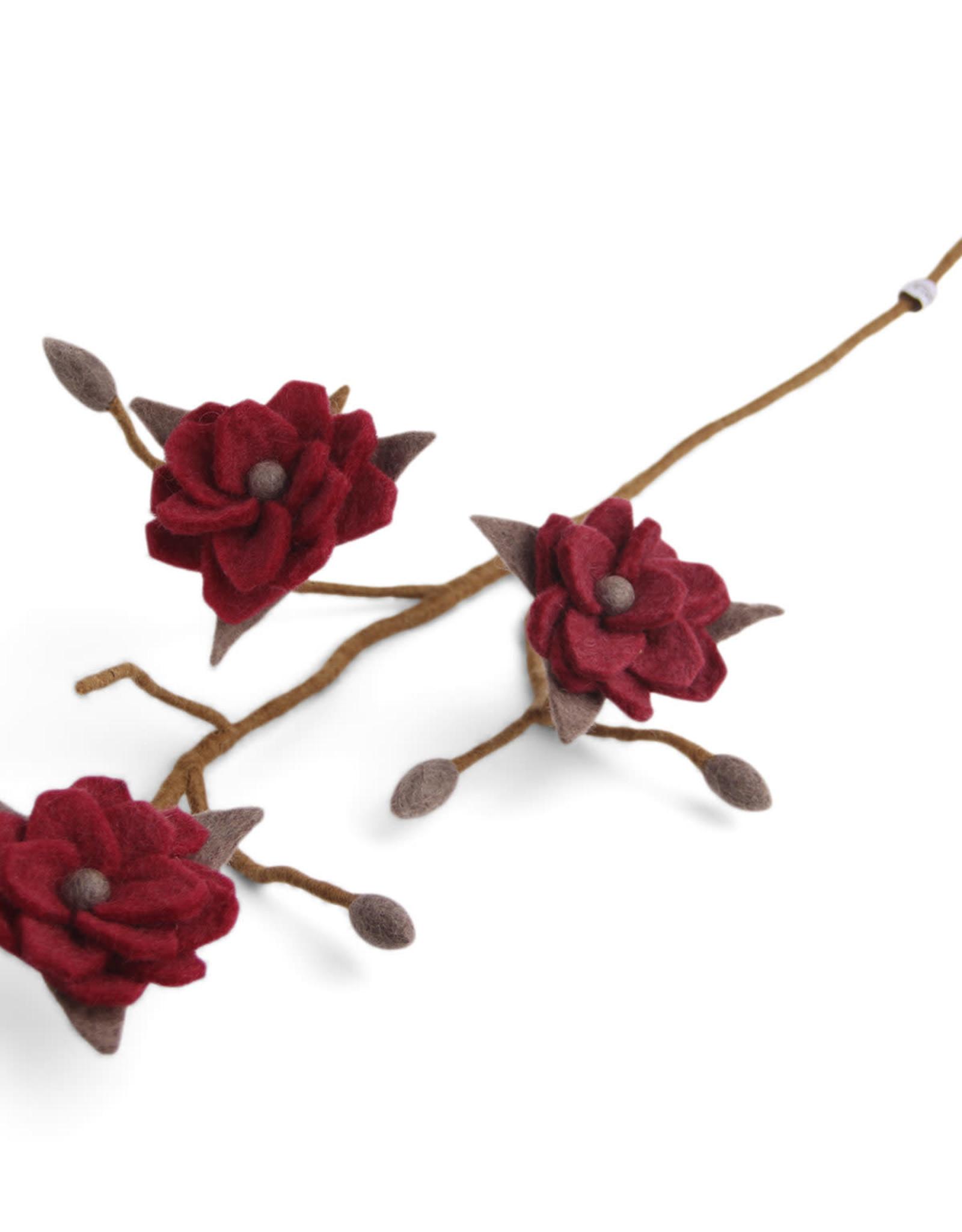 EGS EGS - Magnolia Branch Wine Red Flowers