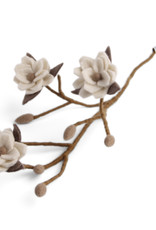 EGS EGS - Magnolia Branch White Flowers