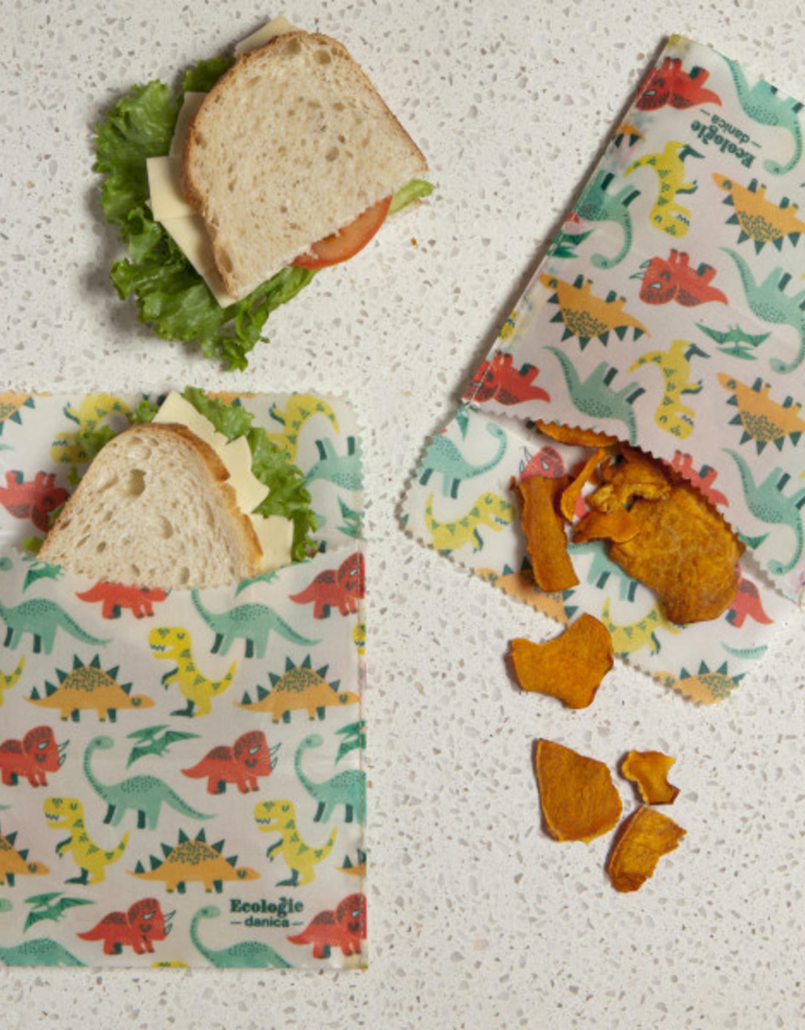 Danica Danica Beeswax Sandwich Wrap- Dandy Dinos Set 2