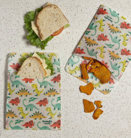 Danica Beeswax Sandwich Wrap- Dandy Dinos Set 2
