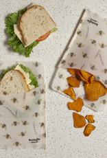 Danica Danica Beeswax Sandwich Wrap-Bees Set 2