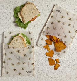 Danica Beeswax Sandwich Wrap-Bees Set 2