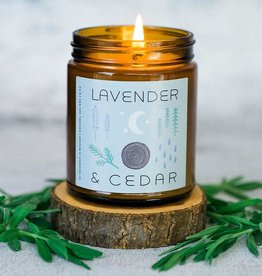 My Weekend Is Booked Lavender & Cedar Candle